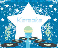 karaoke party design Stock Photo