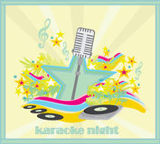 Karaoke party design Stock Photo