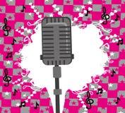 Karaoke party design Royalty Free Stock Photo