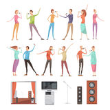 Karaoke Party Elements Set Stock Image