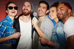 Karaoke party royalty free stock photo