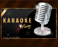 Karaoke party poster - vector eps10 Royalty Free Stock Photos