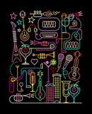 Karaoke Party Vector Illustration Stock Image