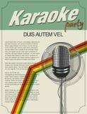 Karaoke poster. Karaoke party invitation, retro style design Stock Images