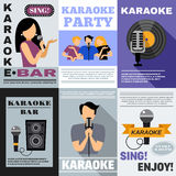 Karaoke Poster Set Stock Images