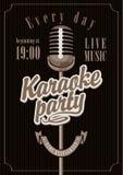 Karaoke przyjęcie Fotografia Stock