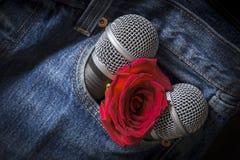 Karaoke/Sänger/Rockband Stockfotos