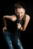Karaoke Singer Royalty Free Stock Images
