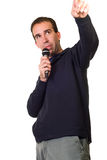 Karaoke Singer Royalty Free Stock Photo