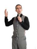 karaoke singer Στοκ φωτογραφία με δικαίωμα ελεύθερης χρήσης