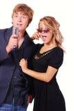 Karaoke Singers Royalty Free Stock Photos