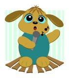 Karaoke Singing Dog Royalty Free Stock Image
