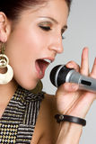 Karaoke Singing Person Royalty Free Stock Photography