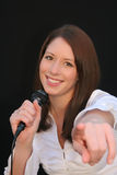 Karaoke star Royalty Free Stock Photo
