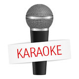 Karaoke sztandar Zdjęcie Royalty Free