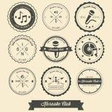 Karaoke Vintage Label stock illustration