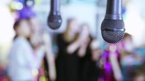 Karaokebar in defocus stock footage