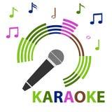 Karaokemicrofoon Royalty-vrije Stock Foto's