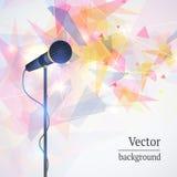 Karaokemikrofon-Liedkonzert Stockfoto