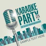 Karaokeparteien Stockbild