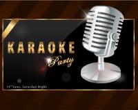 Karaokeparteiplakat - Vektor eps10 Lizenzfreie Stockfotos