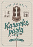 Karaokeparti stock illustrationer