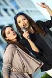 Karaokespaß Lizenzfreies Stockfoto