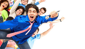 Karaokeunterzeichner Lizenzfreies Stockbild