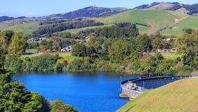 Karapiro lake dam Stock Photo