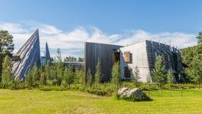 KARASJOK, NORUEGA - 24 DE JULHO DE 2016: Sami Parliament Samediggi imagem de stock