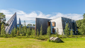 KARASJOK, NORVÈGE - 24 JUILLET 2016 : Sami Parliament Samediggi image stock