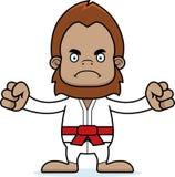 Karatè arrabbiato Sasquatch del fumetto Fotografia Stock