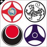 Karatè dell'emblema - arti marziali. Vettore. Fotografia Stock