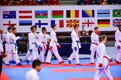Karatè 1 - lega Sofia 2018, 25-27 maggio della gioventù Immagine Stock
