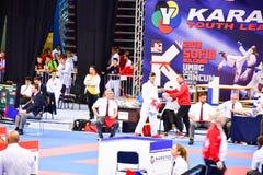 Karatè 1 - lega Sofia 2018, 25-27 maggio della gioventù Fotografie Stock Libere da Diritti