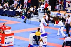 Karatè 1 - lega Sofia 2018, 25-27 maggio della gioventù Fotografie Stock