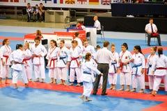 Karatè 1 - lega Sofia 2018, 25-27 maggio della gioventù Immagini Stock