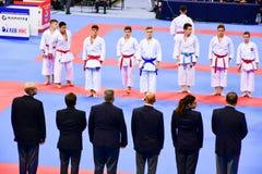 Karatè 1 - lega Sofia 2018, 25-27 maggio della gioventù Fotografia Stock Libera da Diritti