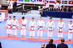 Karatè 1 - lega Sofia 2018, 25-27 maggio della gioventù Fotografia Stock
