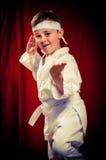 Karaté de pratique d'enfant Photo libre de droits