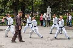 Karaté de Shotokan Photos stock