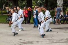 Karaté de Shotokan Photographie stock
