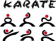 Karaté do logotipo Fotografia de Stock