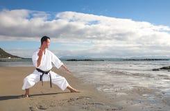 Karaté praticando do homem Fotografia de Stock Royalty Free