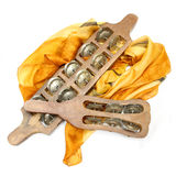 Karatalas - instrumento musical indio Imágenes de archivo libres de regalías