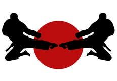 karate άλματος διανυσματική απεικόνιση