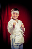 Karate άσκησης παιδιών Στοκ Φωτογραφία