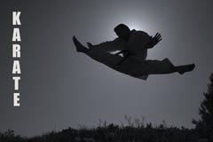 karate άτομο λακτίσματος στοκ εικόνα με δικαίωμα ελεύθερης χρήσης