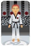 karate άτομο Στοκ εικόνα με δικαίωμα ελεύθερης χρήσης