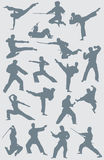 karate αριθμών διάνυσμα Στοκ εικόνα με δικαίωμα ελεύθερης χρήσης